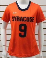 Women's Nike Dri-Fit Syracuse Orange #9 Orange/Navy Short Sleeve Jersey New