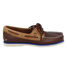 Timberland Classic 2 Eye Boat Shoe Dark Brown Mens Shoes