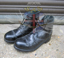 BRITISH ARMY SURPLUS BLACK AMMO BOOTS,LEATHER UPPER & SOLE,UNIFORM,PARADE DRESS