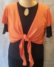 Wallis Petite Women's LP Orange Front Tie Shrug {2121}