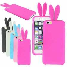 Lovely Cute Bunny Silicon Rabbit Stand Holder Soft Cover Case For iPhone 6 4.7""