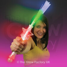 Light Up Flashing Fibre Optic Torch Star Wand LED Novelty