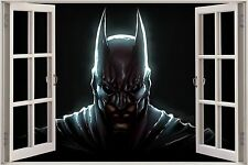 Huge 3D Window Fantasy Dark Knight Batman View Wall Sticker Decal Mural 682