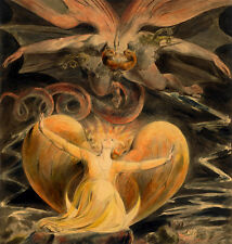 """William Blake : """"Great Red Dragon & Woman Clothed with the Sun"""" — Fine Art Print"""