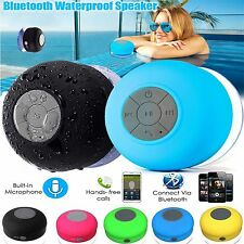 Waterproof Bluetooth Wireless Speaker Handsfree Mic Suction Music Car Shower Top