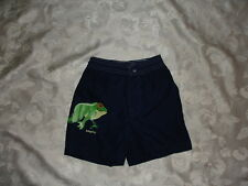 Boys BABY GAP Swim Trunks Shorts Size 12-18 Months ~ SUMMER ~ Navy Blue w/ FROG