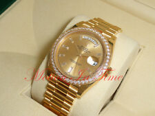 Rolex Day-Date 40mm President 18kt Yellow Gold Champagne Baguette Dial 228348