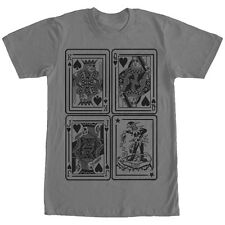 Lost Gods King Queen Jack Joker Playing Cards Mens Graphic T Shirt