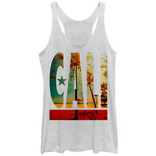 Lost Gods Cali Flag Palm Trees Womens Graphic Racerback Tank