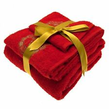 Manchester United FC 3 Piece Towel Set Football Soccer EPL Team Towels