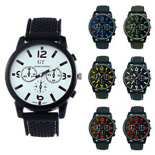 GT Men Silicone Band Stainless Steel Wrist Watch Number HY