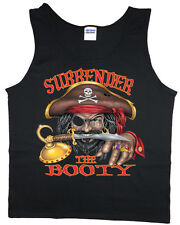 funny saying pirate tank top for men surrender the booty tee shirt sleeveless