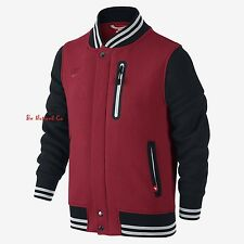 NWT Nike Brushed Fleece Varsity Older Boys Jacket XL Red Black Coat Tech Casual