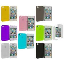 0.3mm Super Ultra Thin Hard Frost Cover Case+Screen Protector for iPhone 4 4G 4S