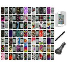 Design Color Hard Snap-On Case Cover+LCD+Charger+Pen for iPhone 4 4G 4S