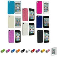 For iPhone 4 4S Bling Glitter Ultra Thin Hard Case Cover+Car Charger+LCD