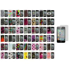 Color Design Hard Snap-On Case Cover+3X LCD Protector for iPod Touch 4th Gen 4G