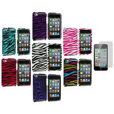 Zebra Hard Case Cover Accessory+Screen Protector for iPod Touch 4th Gen 4G 4
