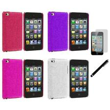 Color Bling Glitter Hard Cover Case+LCD Film+Stylus for iPod Touch 4th Gen 4G