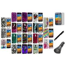 Design Cover Case+LCD+Charger+Pen for Samsung Epic Touch 4G Sprint Galaxy S2