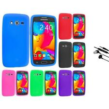 For Samsung Galaxy Avant G386 Silicone Rubber Case Cover Earphone Mic