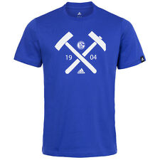 FC Schalke 04 adidas Graphic T-Shirt F85691 Men's Fan Tee Shirt M L XL new