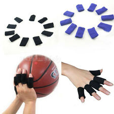 10Pcs Finger Support Sleeve Sport Elastic Basketball Stretch Arthritis Protector