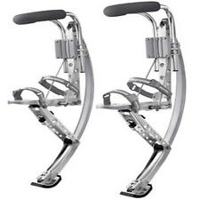 Adult Kangaroo Shoes Jumping Stilts Fitness Exercise Silver 3 Weight Range Opt