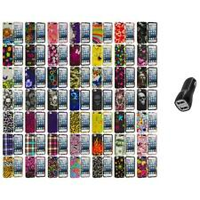 Design Hard Snap-On Rubberized Case Cover+2.1A Charger for iPod Touch 5th Gen 5G