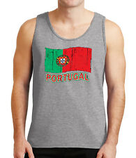 Portugal Flag Men's Tank Top Distress Flag Portugal Tanks for Guys - 1060C