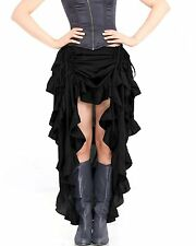 Steampunk Victorian Gothic Womens Costume Show Girl Skirt C1367 [Black]