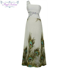 Angel-fashions Sexy One Shoulder Peacock Slim Party Bridesmaid Dress A-031