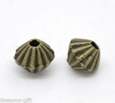 Gift Wholesale Bronze Tone Bicone Spacer Beads 5x4mm