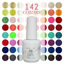 Lundle Varnish 142 Colours 15ml LED UV Soak Off Gel Nail Polish Top Base Coat -D