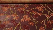 DONGHIA TRYST RENDEZVOUS RED HIGH END LINEN VELVET EXCLUSIVE FABRIC REMNANTS