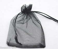 Gift Wholesale 7x9cm Black Drawable Organza Wedding Gift Bags&Pouches