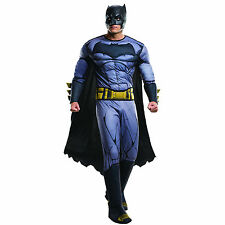 Adult's Deluxe Batman vs Superman Muscle Chest Fancy Dress Costume Outfit