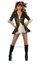 Adult Sexy Caribbean Buccaneer Pirate Ladies Fancy Dress Costume Party Outfit
