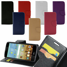 For Kyocera Hydro Reach / View PU Leather Flip Lux Wallet Case ID Card Slot