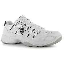K Swiss Grancourt II Tennis Shoes Womens White/Black Trainers Sneakers