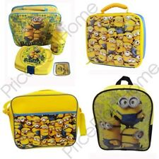 DESPICABLE ME MINIONS SCHOOL BACKPACKS & LUNCH BAGS KIDS OFFICIAL FREE P+P