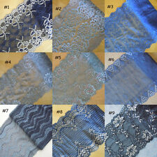 9 Pattern Blue,Grey Stretch Floral Lace For Lingerie,Headband,Gloves,Bow zhd10