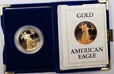 1987 $50 American Eagle 1Oz Gold Proof Coin In Original US Mint Box with COA