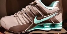 Women's Nike Shox Current Running Shoes - Cool Grey/Hyper Turquoise