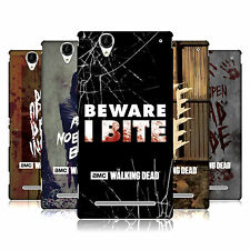 OFFICIAL AMC THE WALKING DEAD TYPOGRAPHY HARD BACK CASE FOR SONY PHONES 3