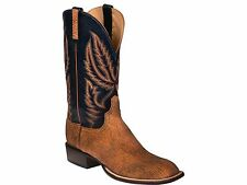 Lucchese HY2504 Mens Tan Old English Goat Leather Western Horseman Cowboy Boots