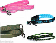 Rok Straps - 3 in 1 Shock Absorbing Dog Lead Blue, Pink, Green, Camoflage