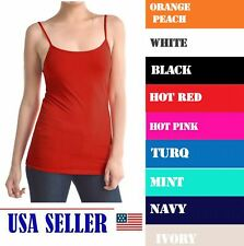 NWT Women's Ladies Solid Poly Cami Camisol Tank Top 9 COLORS ONE SIZE FIT
