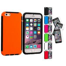 For Apple iPhone 6 (4.7) Hybrid Armor Case Cover+3X Anti Glare Screen Protector