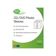 NEO MEDIA PVC CD/DVD PROTECTIVE SLEEVE (100 MICRON) / 100 PER PACK
